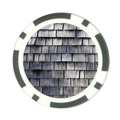 Weathered Shingle Poker Chip Card Guards