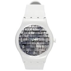 WEATHERED SHINGLE Round Plastic Sport Watch (M)