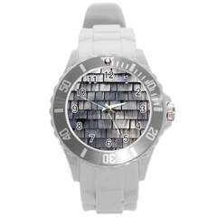 WEATHERED SHINGLE Round Plastic Sport Watch (L)
