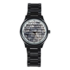 WEATHERED SHINGLE Stainless Steel Round Watches