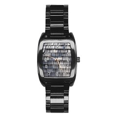 WEATHERED SHINGLE Stainless Steel Barrel Watch