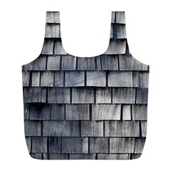 WEATHERED SHINGLE Full Print Recycle Bags (L)