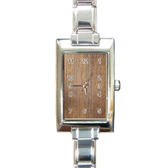 Walnut Rectangle Italian Charm Watches