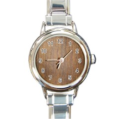 Walnut Round Italian Charm Watches