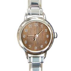 Walnut Round Italian Charm Watches
