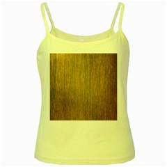 Walnut Yellow Spaghetti Tanks