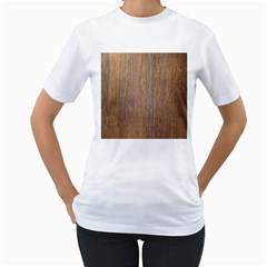 Walnut Women s T Shirt (white) (two Sided)