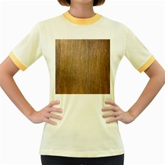 Walnut Women s Fitted Ringer T Shirts