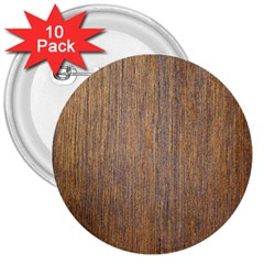 Walnut 3  Buttons (10 Pack)
