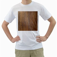 Walnut Men s T Shirt (white) (two Sided)
