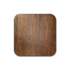 Walnut Rubber Square Coaster (4 Pack)