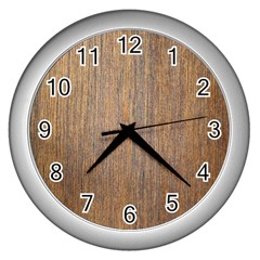 Walnut Wall Clocks (silver)