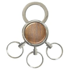 Walnut 3 Ring Key Chains