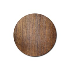 Walnut Rubber Round Coaster (4 Pack)
