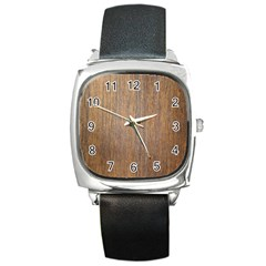 Walnut Square Metal Watches