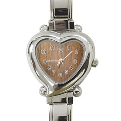 Walnut Heart Italian Charm Watch