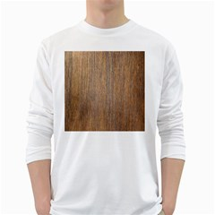 Walnut White Long Sleeve T Shirts