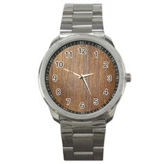 Walnut Sport Metal Watches