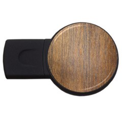 Walnut Usb Flash Drive Round (4 Gb)