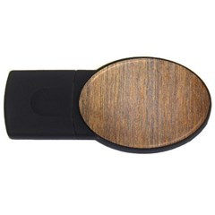 Walnut Usb Flash Drive Oval (4 Gb)