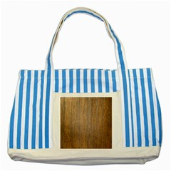Walnut Striped Blue Tote Bag