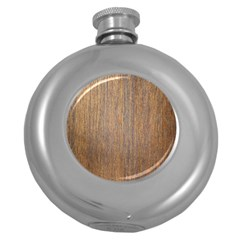 Walnut Round Hip Flask (5 Oz)