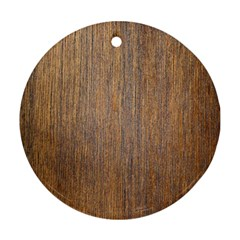 Walnut Round Ornament (two Sides)