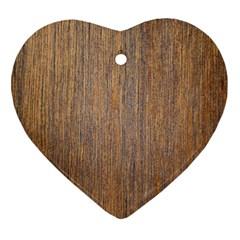 Walnut Heart Ornament (2 Sides)