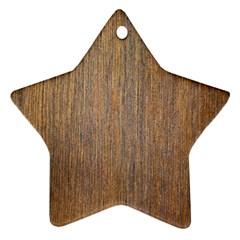 Walnut Star Ornament (two Sides)