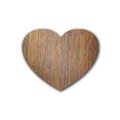 Walnut Rubber Coaster (heart)