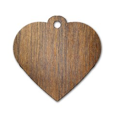 Walnut Dog Tag Heart (one Side)