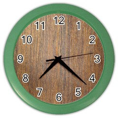 Walnut Color Wall Clocks