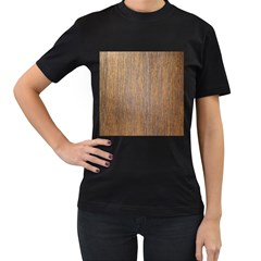 Walnut Women s T Shirt (black)