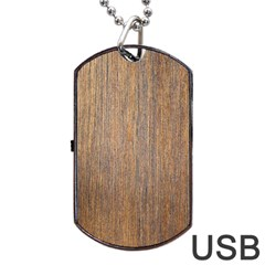 WALNUT Dog Tag USB Flash (One Side)