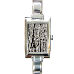 Tree Bark Rectangle Italian Charm Watches