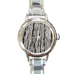 Tree Bark Round Italian Charm Watches