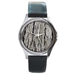 Tree Bark Round Metal Watches