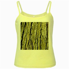 Tree Bark Yellow Spaghetti Tanks