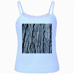 Tree Bark Baby Blue Spaghetti Tanks