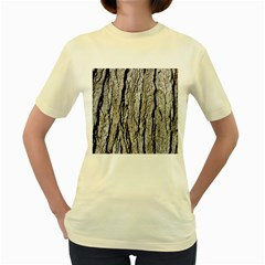 Tree Bark Women s Yellow T Shirt