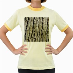 Tree Bark Women s Fitted Ringer T Shirts