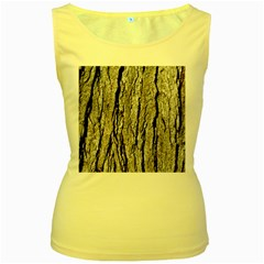 Tree Bark Women s Yellow Tank Tops