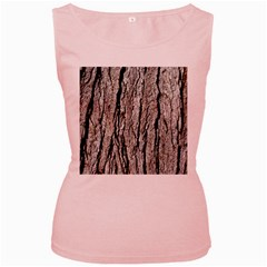 Tree Bark Women s Pink Tank Tops