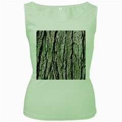 Tree Bark Women s Green Tank Tops
