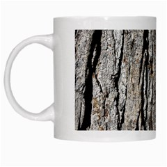 Tree Bark White Mugs