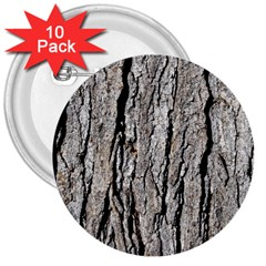 Tree Bark 3  Buttons (10 Pack)