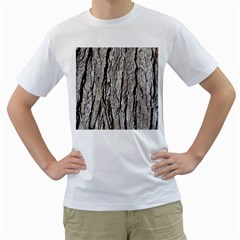 Tree Bark Men s T Shirt (white) (two Sided)
