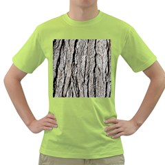 Tree Bark Green T Shirt