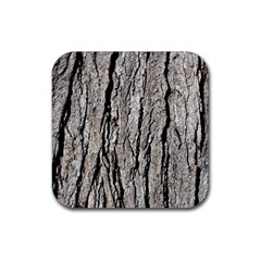 Tree Bark Rubber Square Coaster (4 Pack)