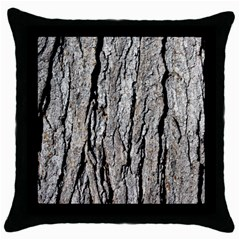 Tree Bark Throw Pillow Cases (black)